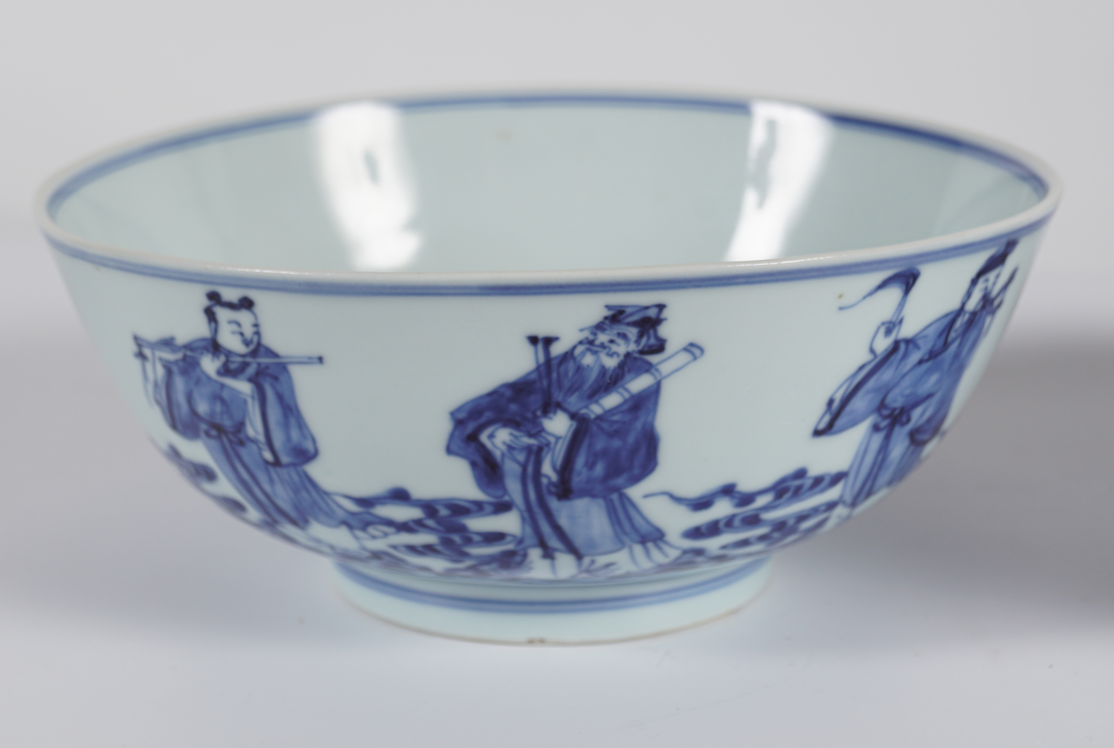PAIR OF CHINESE BLUE AND WHITE BOWLS - Image 2 of 6