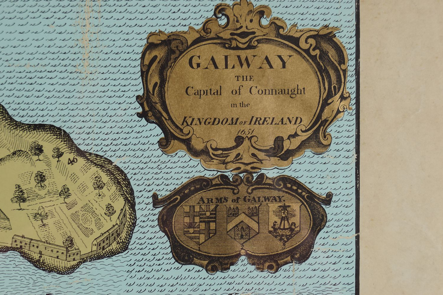 MAP OF GALWAY FROM 1651 - Image 3 of 4