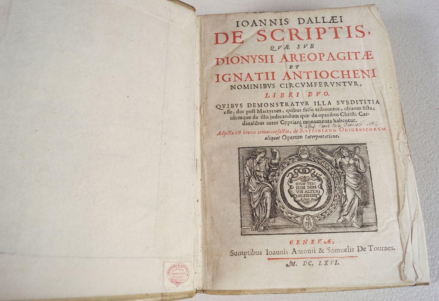 BOOK: JOANNIS DALLAEI