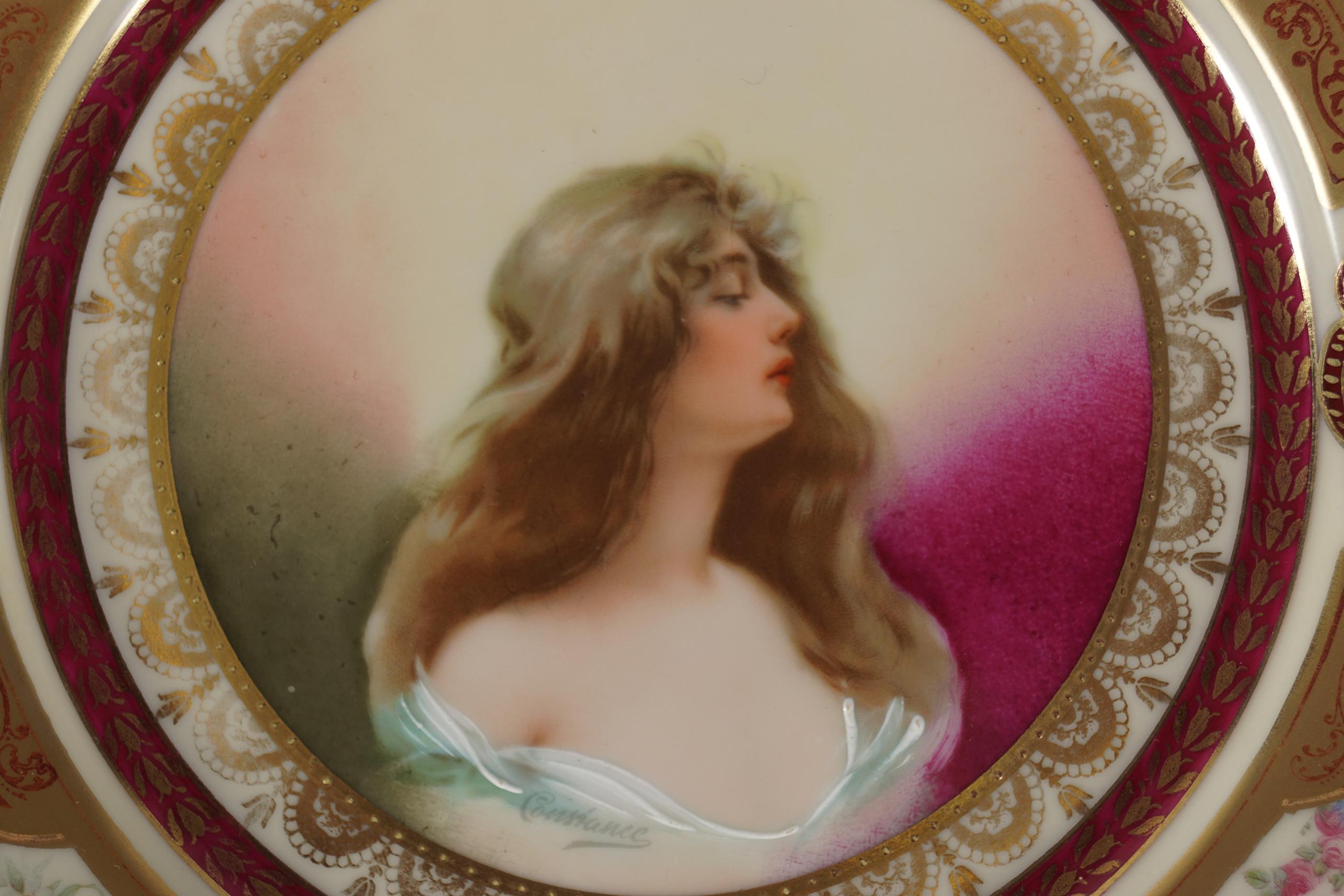 19TH-CENTURY SCHWARZ BURA PORCELAIN CABINET PLATE - Image 2 of 4