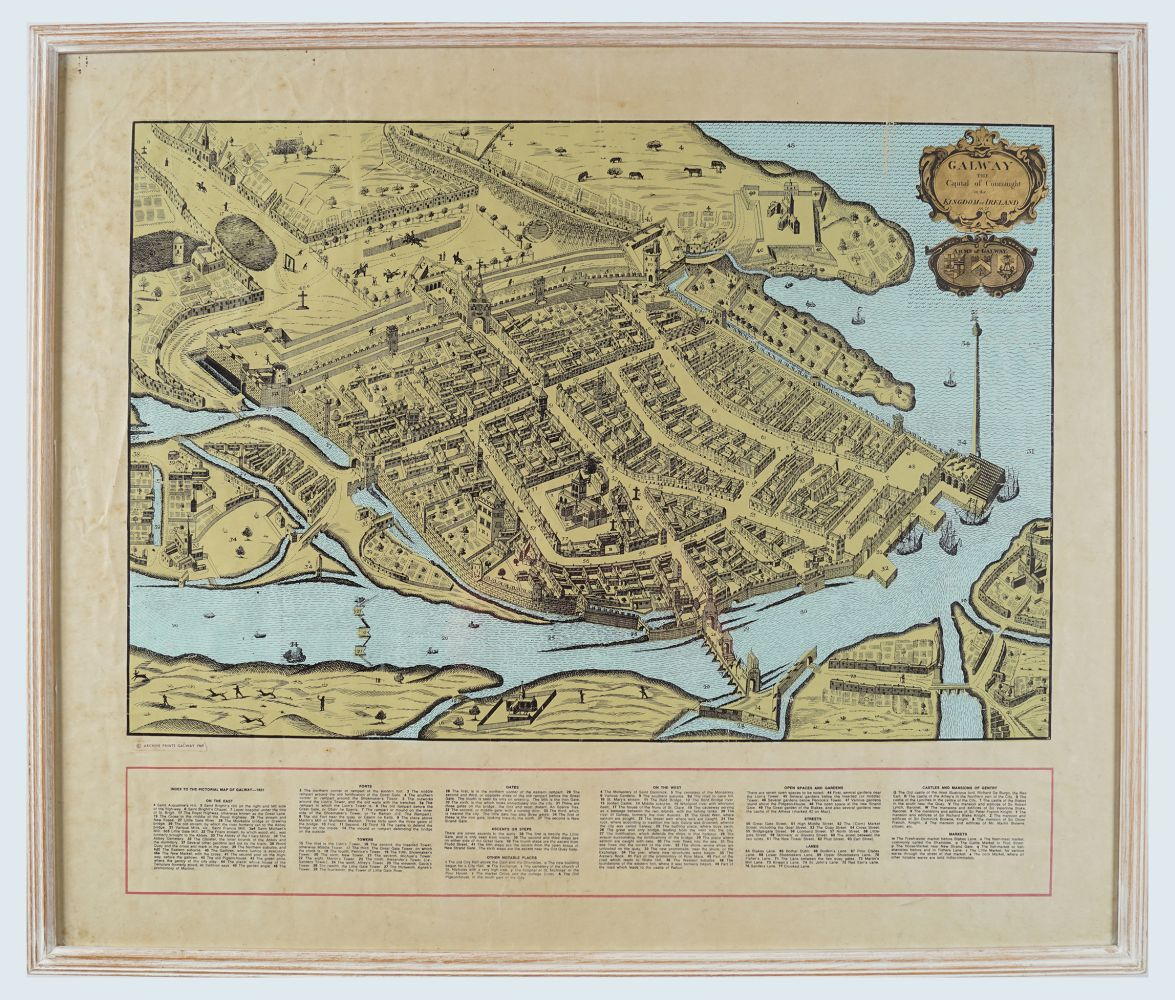 MAP OF GALWAY FROM 1651