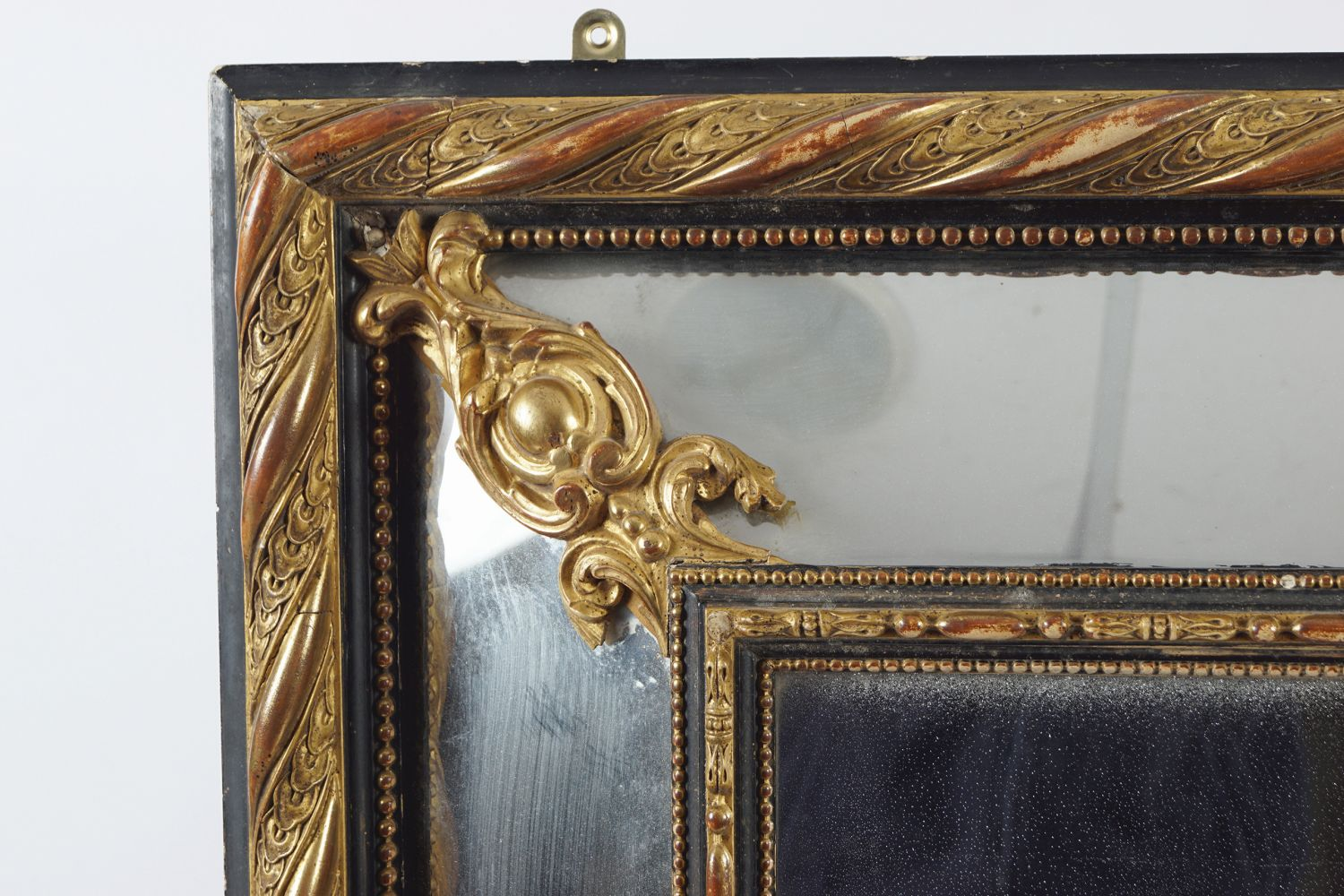 19TH-CENTURY GILT FRAMED OVER MANTLE MIRROR - Image 3 of 3