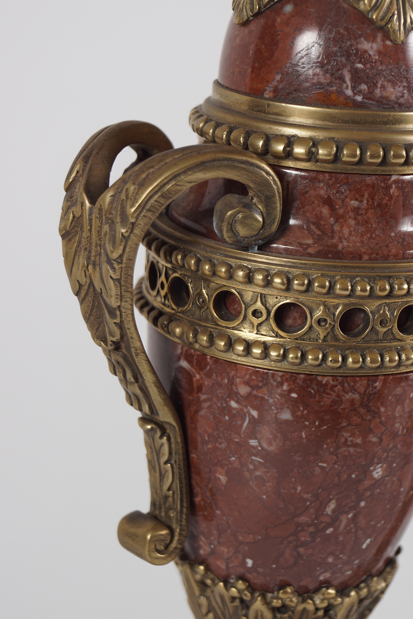PAIR OF ROUGE ROYALE MARBLE CASSOULETS - Image 4 of 4
