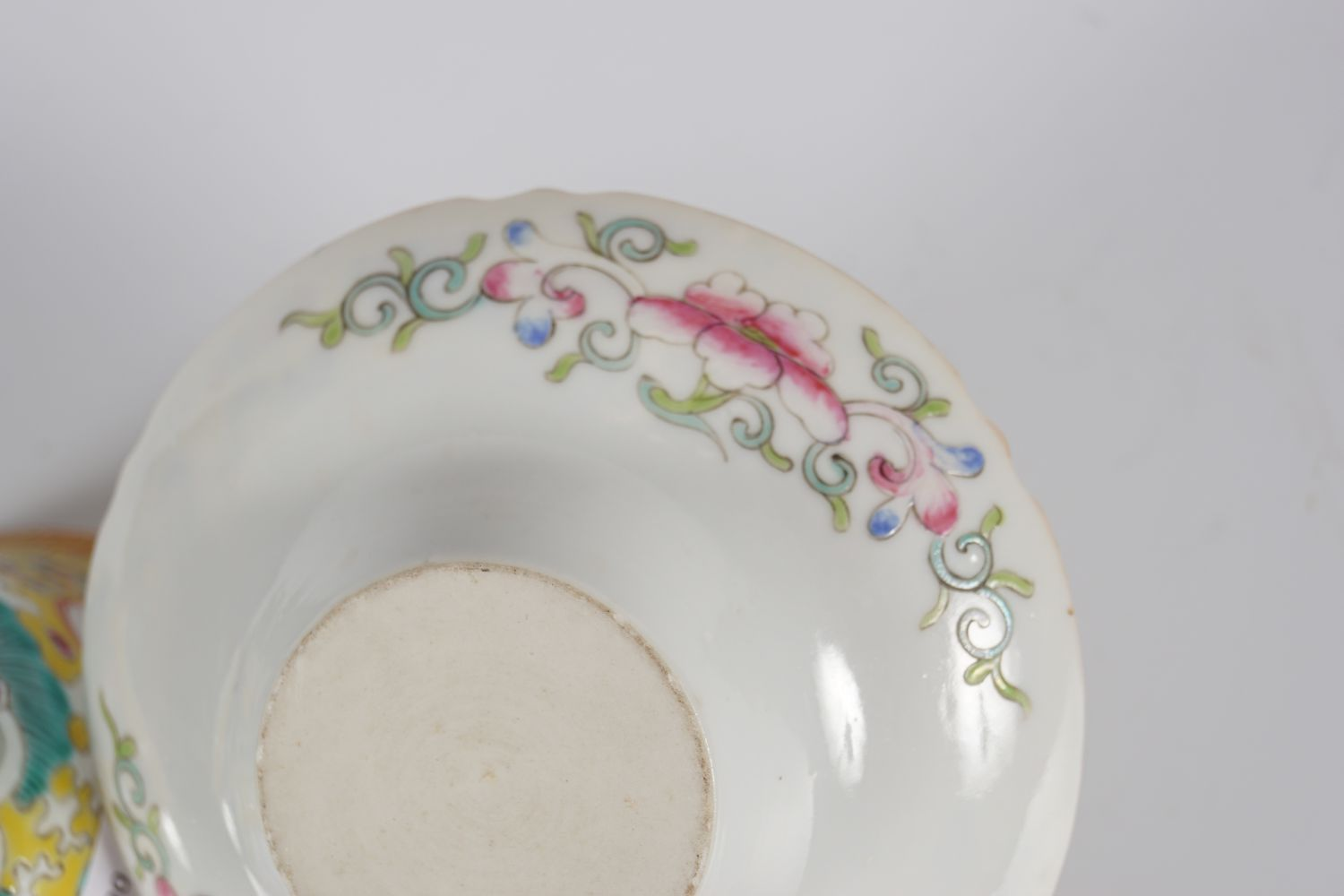 19TH-CENTURY CHINESE FAMILLE ROSE CUP AND SAUCER - Image 5 of 5