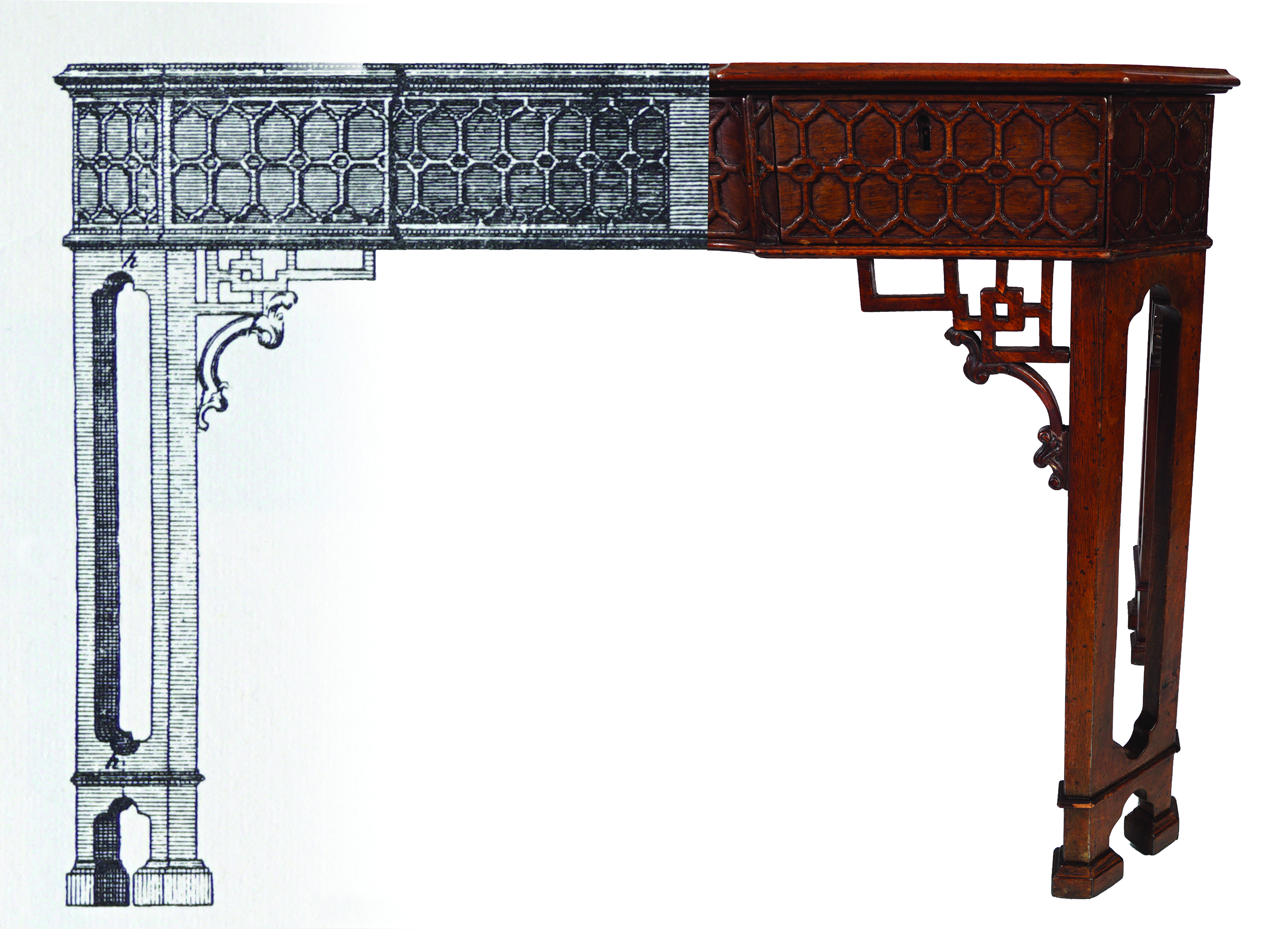 18TH-CENTURY PERIOD CHINESE CHIPPENDALE TABLE - Image 2 of 7