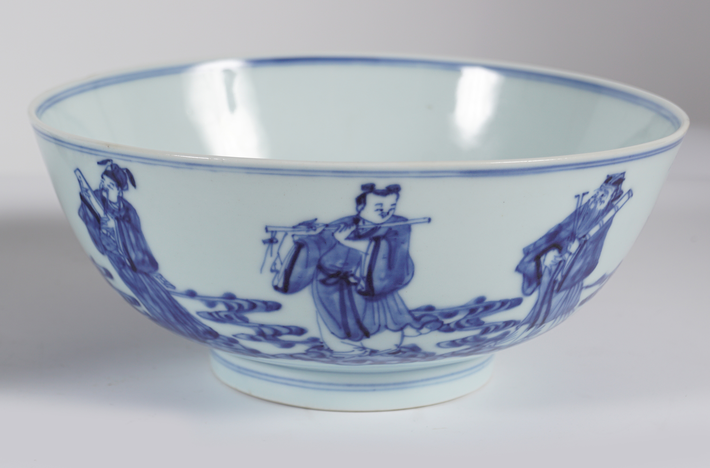PAIR OF CHINESE BLUE AND WHITE BOWLS - Image 3 of 6