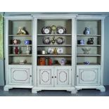 LARGE 19TH-CENTURY PAINTED BREAKFRONT SHELVES