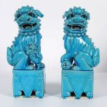 PAIR OF CHINESE QING FOO DOGS