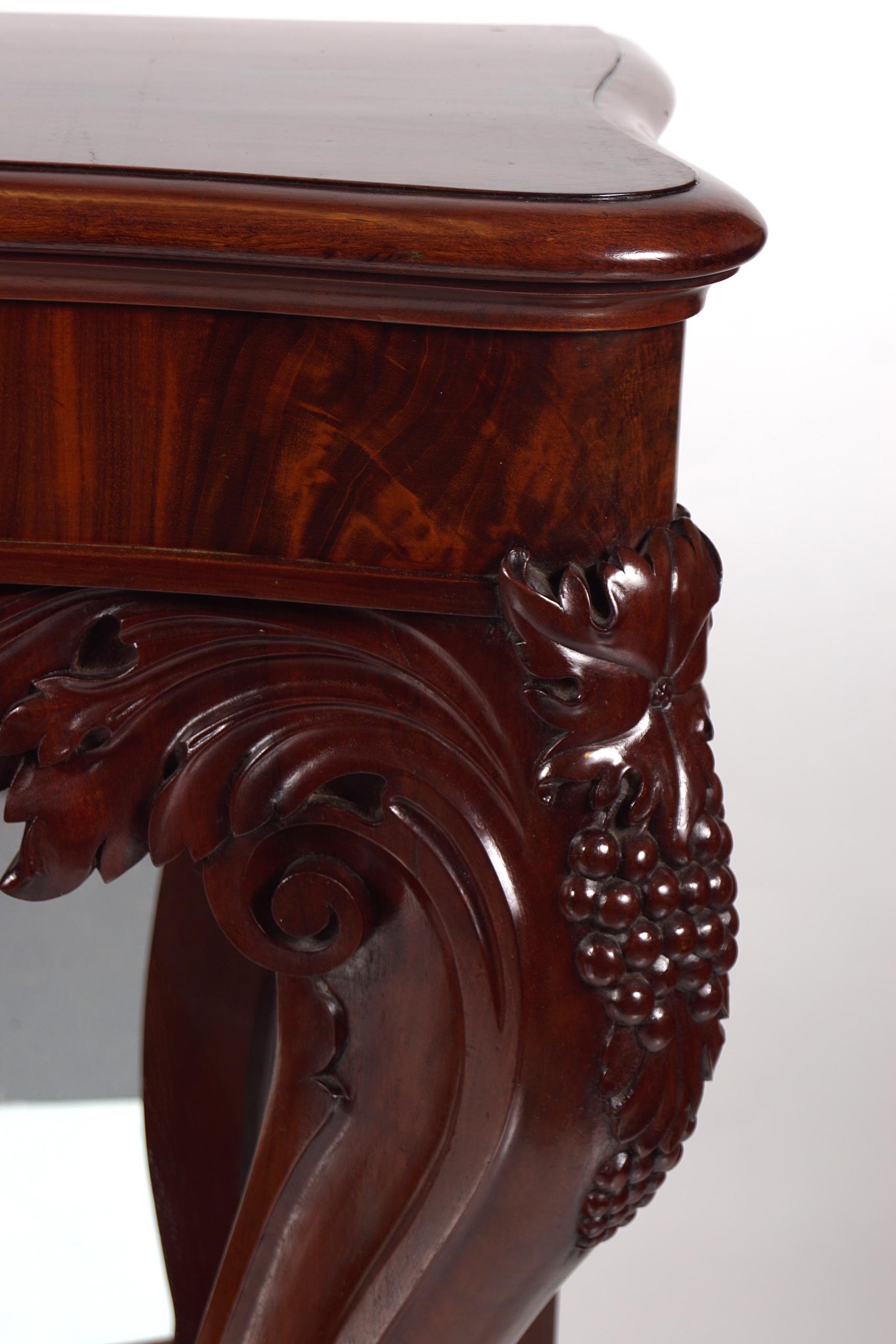 19TH-CENTURY MAHOGANY HALL TABLE - Image 4 of 6