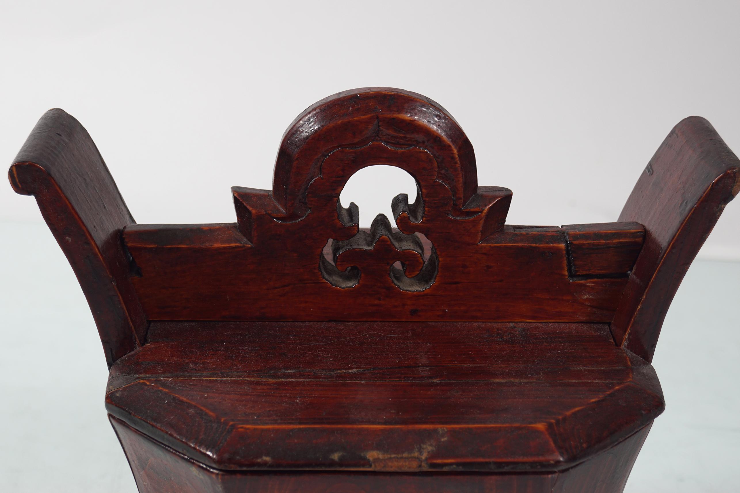 19TH-CENTURY CHINESE BRASS BOUND BOX - Image 2 of 2