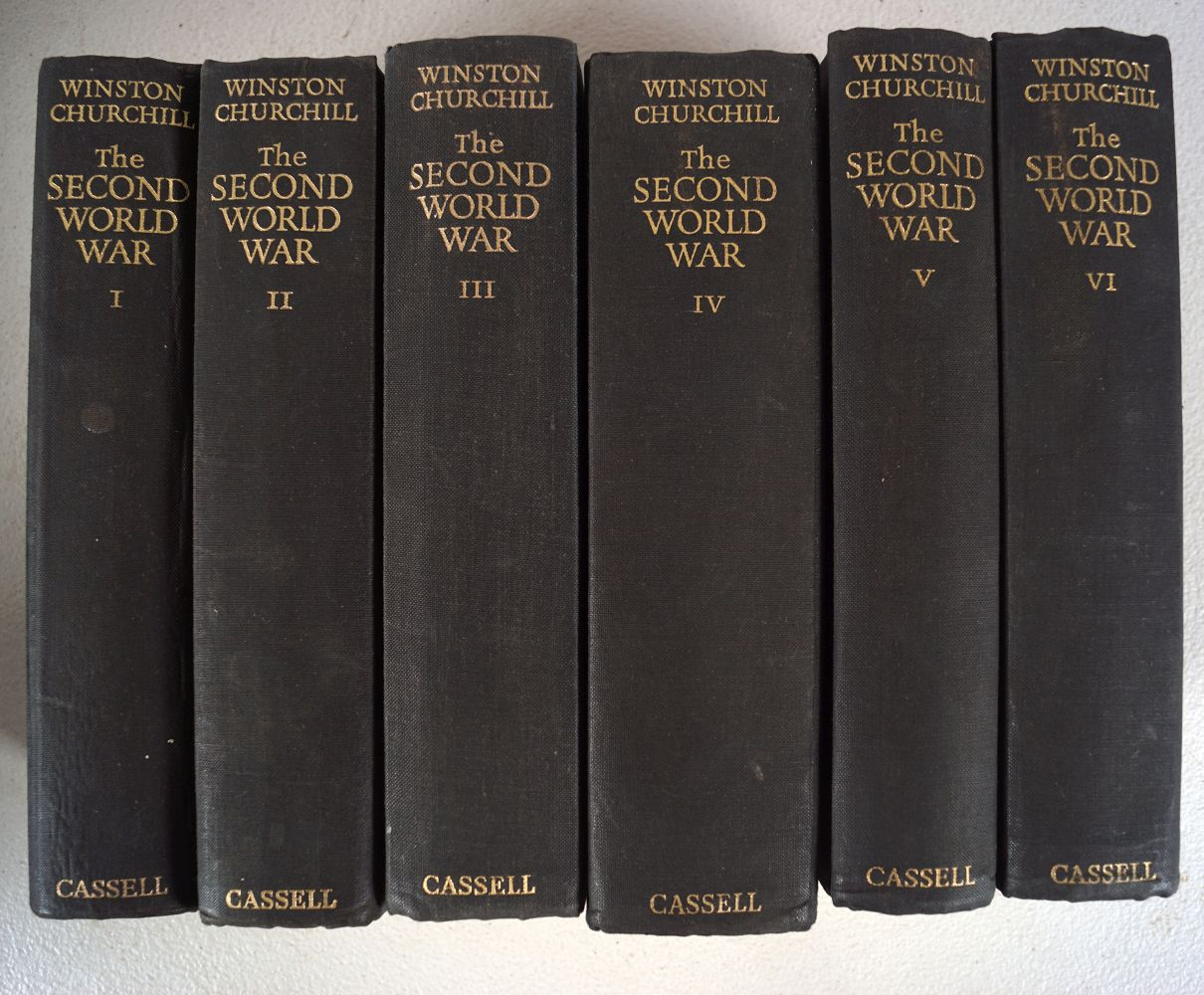 WINSTON CHURCHILL THE SECOND WORLD WAR 6 VOLUMES