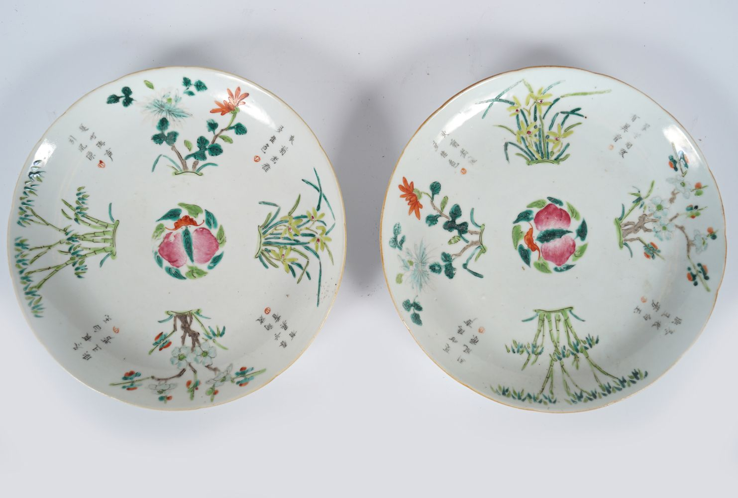 PAIR OF CHINESE CHENGHUA PLATES