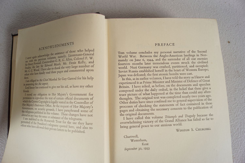 WINSTON CHURCHILL THE SECOND WORLD WAR 6 VOLUMES - Image 5 of 6