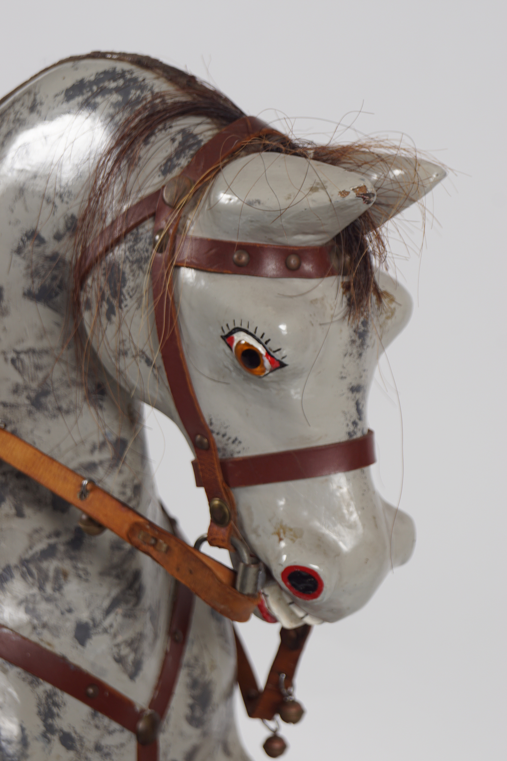 ANTIQUE POLYCHROME WOODEN ROCKING HORSE - Image 4 of 4