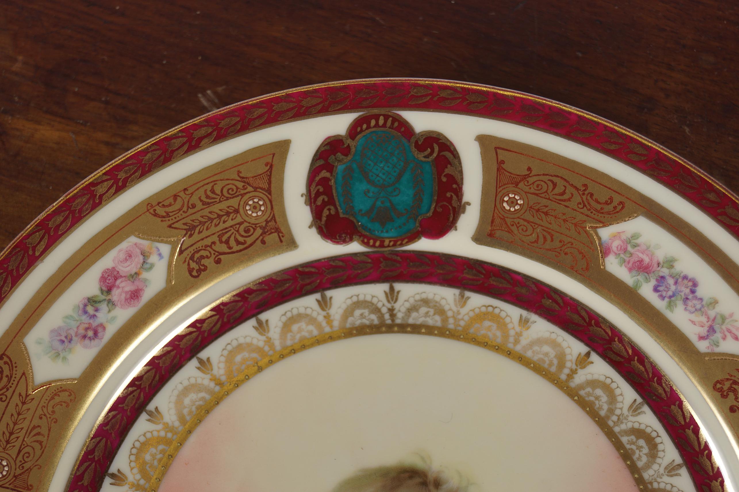 19TH-CENTURY SCHWARZ BURA PORCELAIN CABINET PLATE - Image 3 of 4
