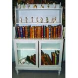 REGENCY PERIOD PAINTED WATERFALL BOOKCASE