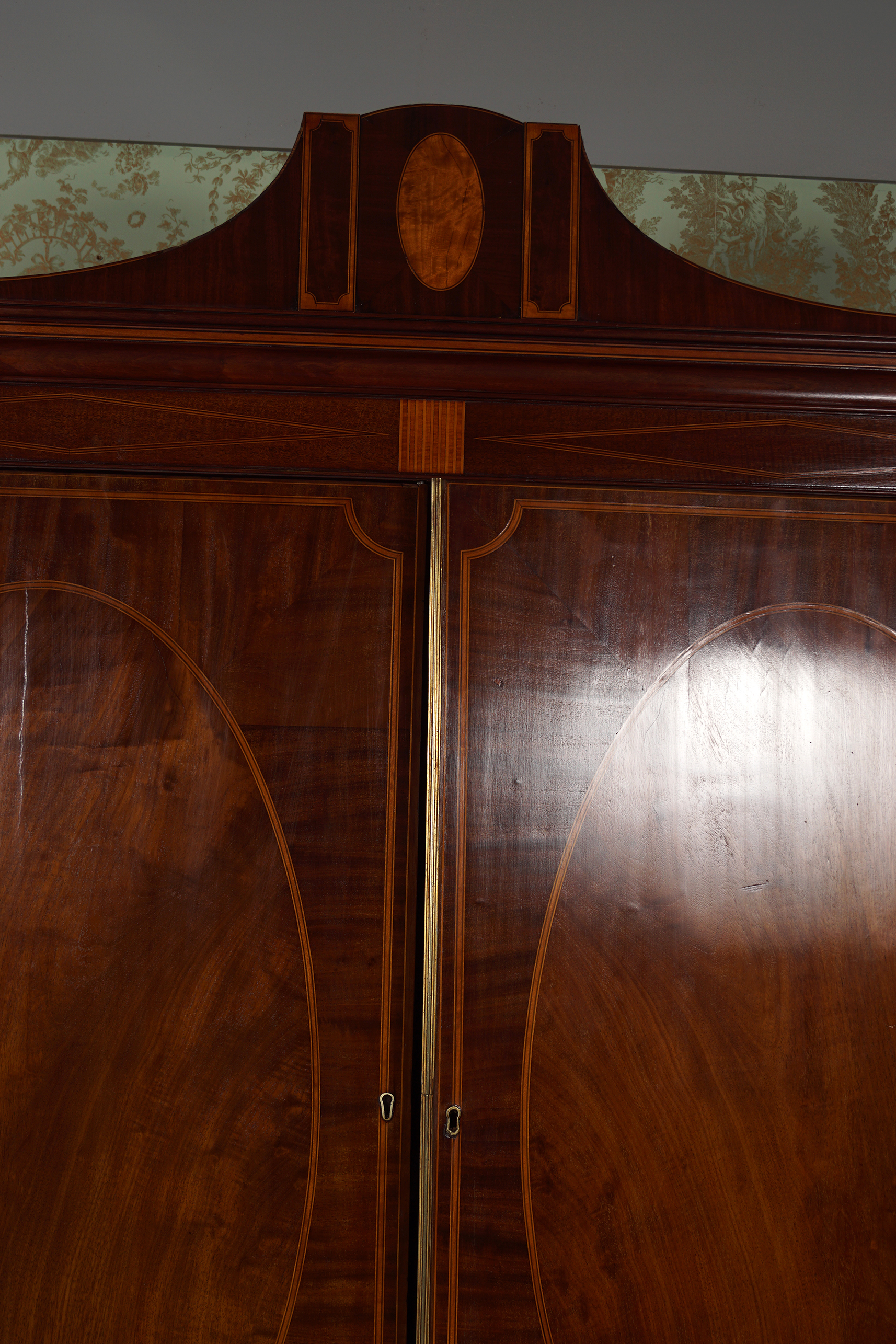 GEORGE III MAHOGANY AND INLAID BLANKET CHEST - Image 2 of 4