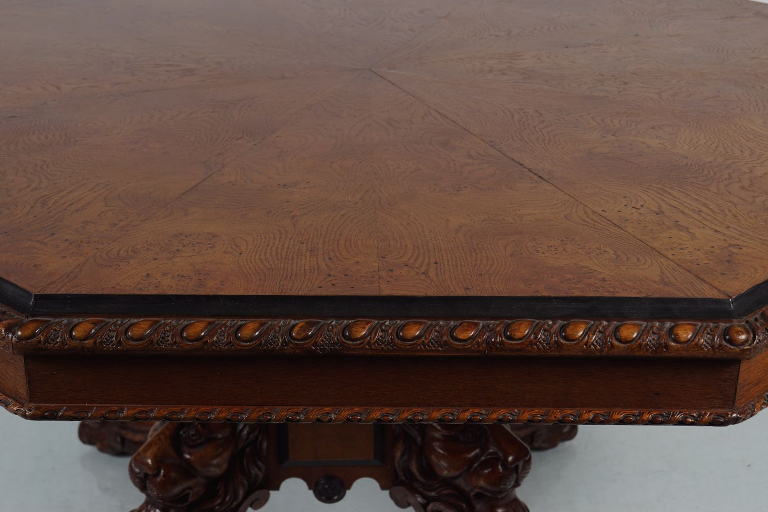 IMPORTANT WILLIAM IV OAK DINING TABLE - Image 5 of 7