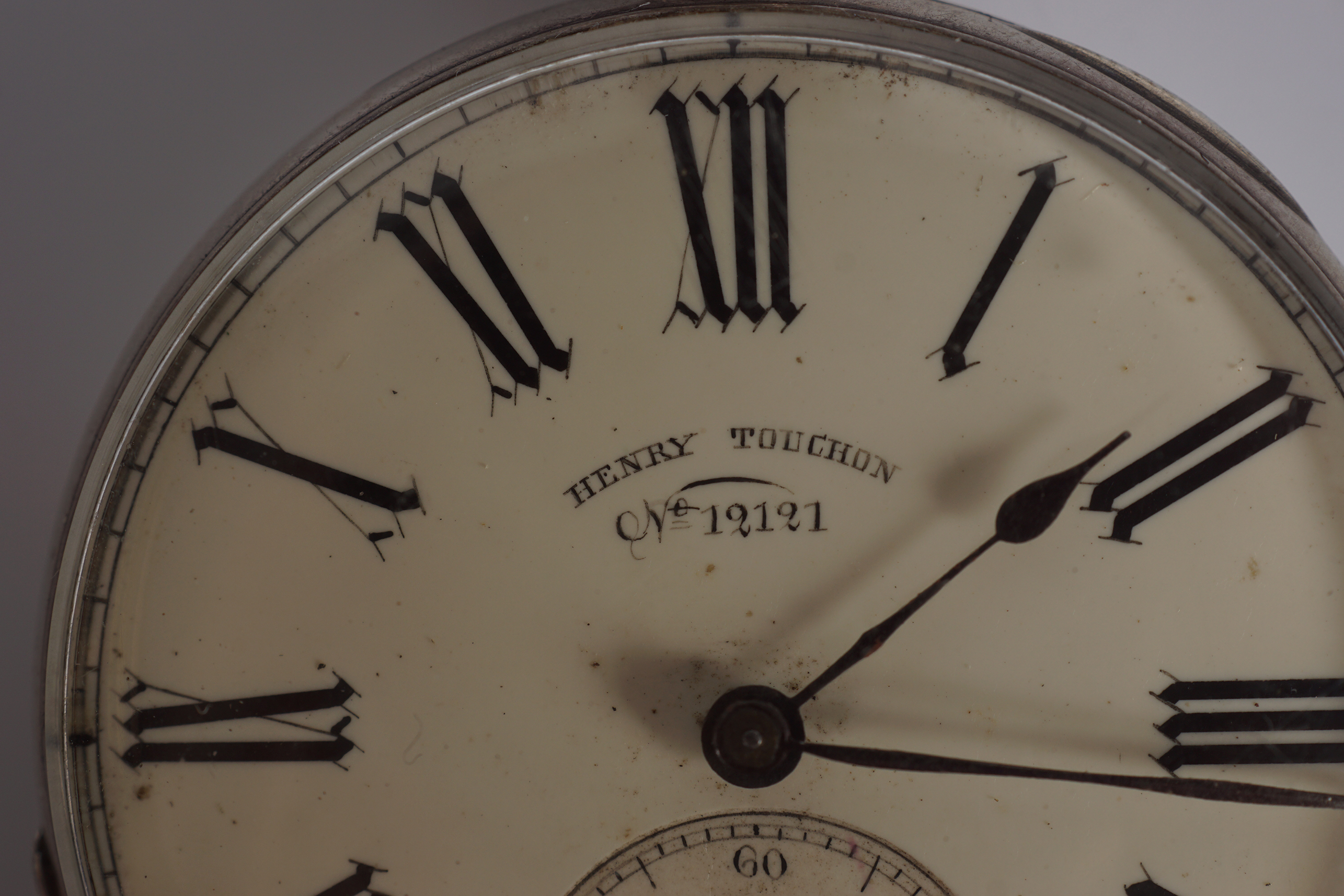 SILVER GENTS POCKET WATCH - Image 2 of 3