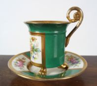 19TH-CENTURY CAPODIMONTE CUP AND SAUCER