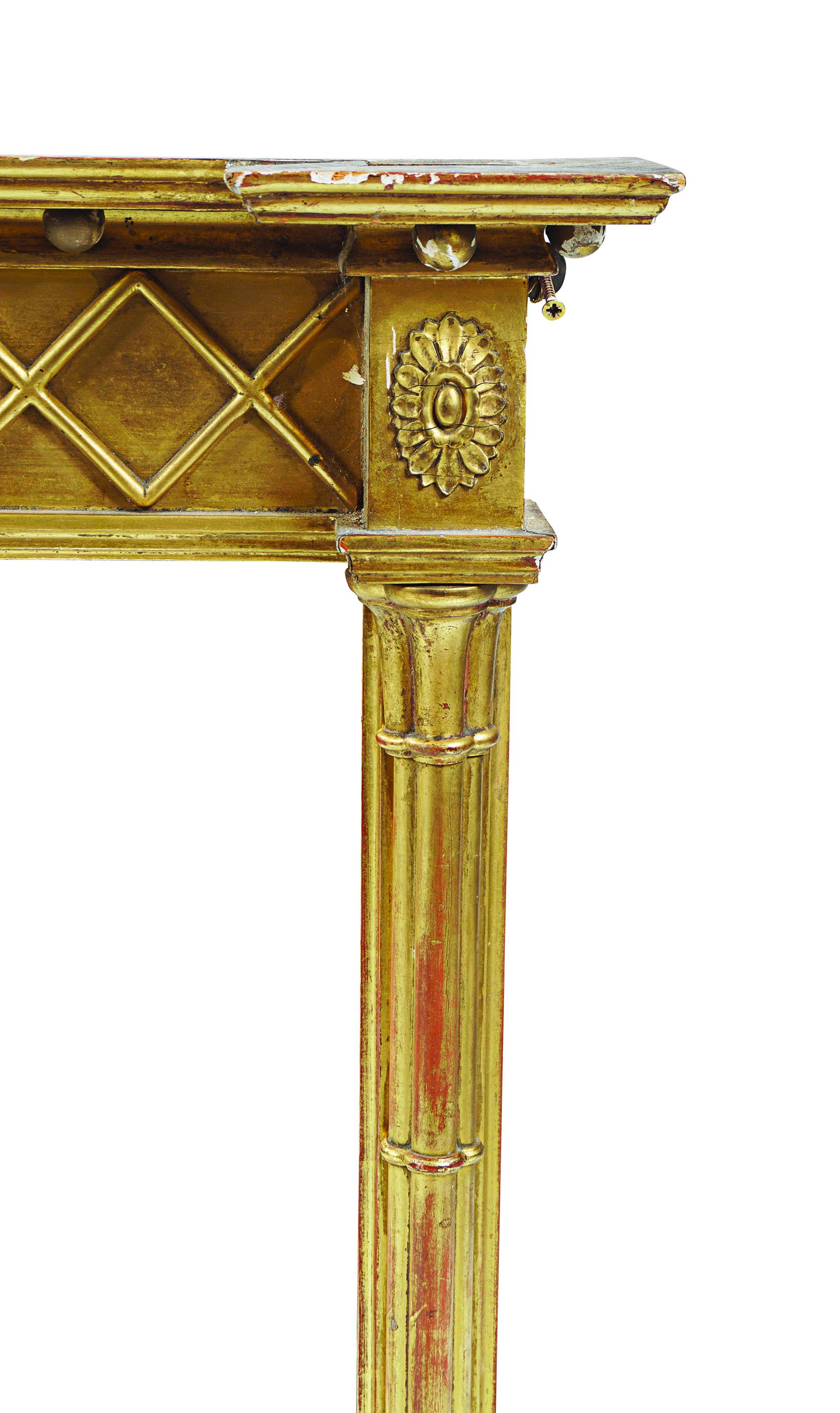 REGENCY PERIOD GILT FRAMED OVER-MANTLE MIRROR - Image 2 of 2