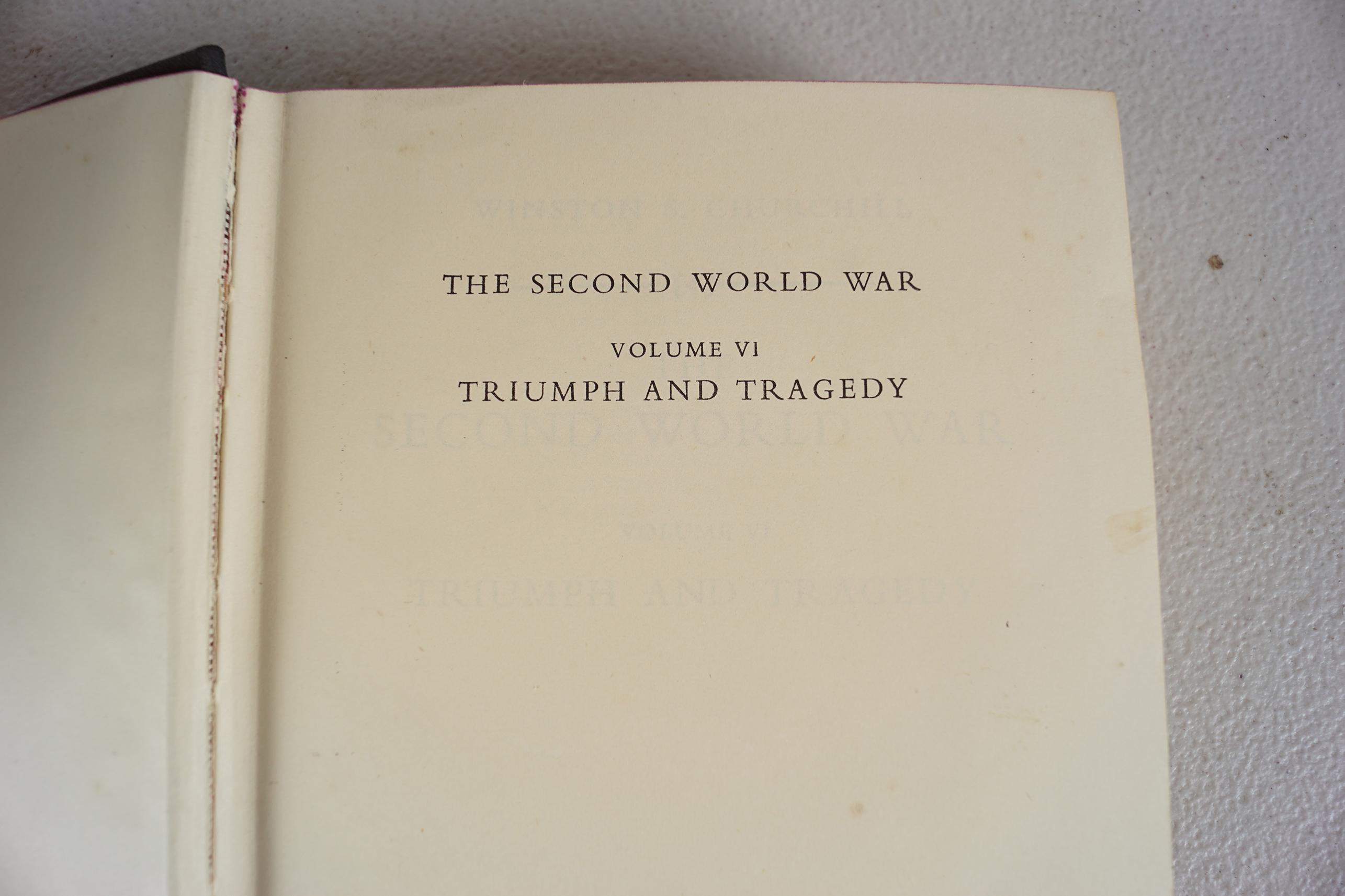 WINSTON CHURCHILL THE SECOND WORLD WAR 6 VOLUMES - Image 3 of 6