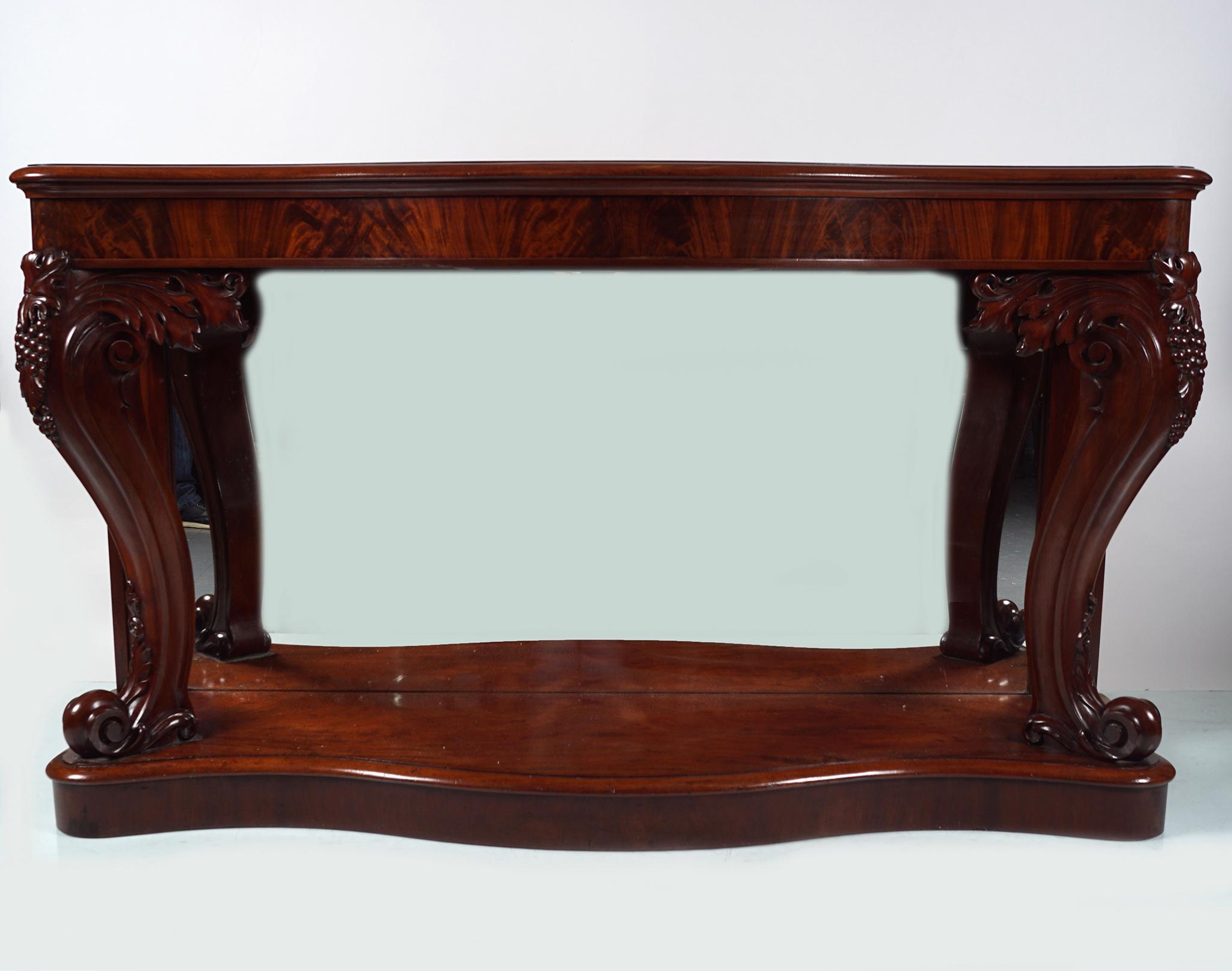 19TH-CENTURY MAHOGANY HALL TABLE