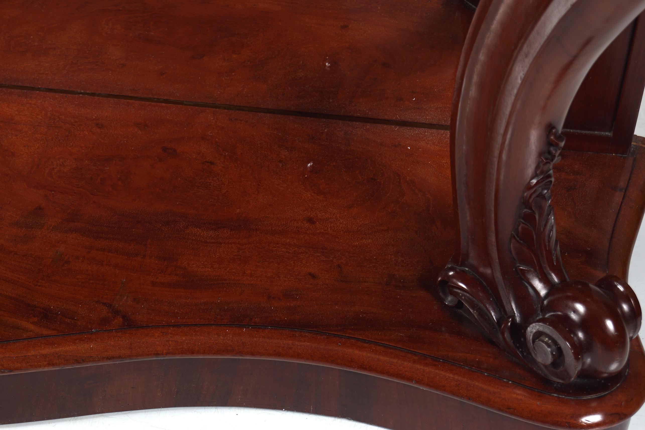 19TH-CENTURY MAHOGANY HALL TABLE - Image 6 of 6