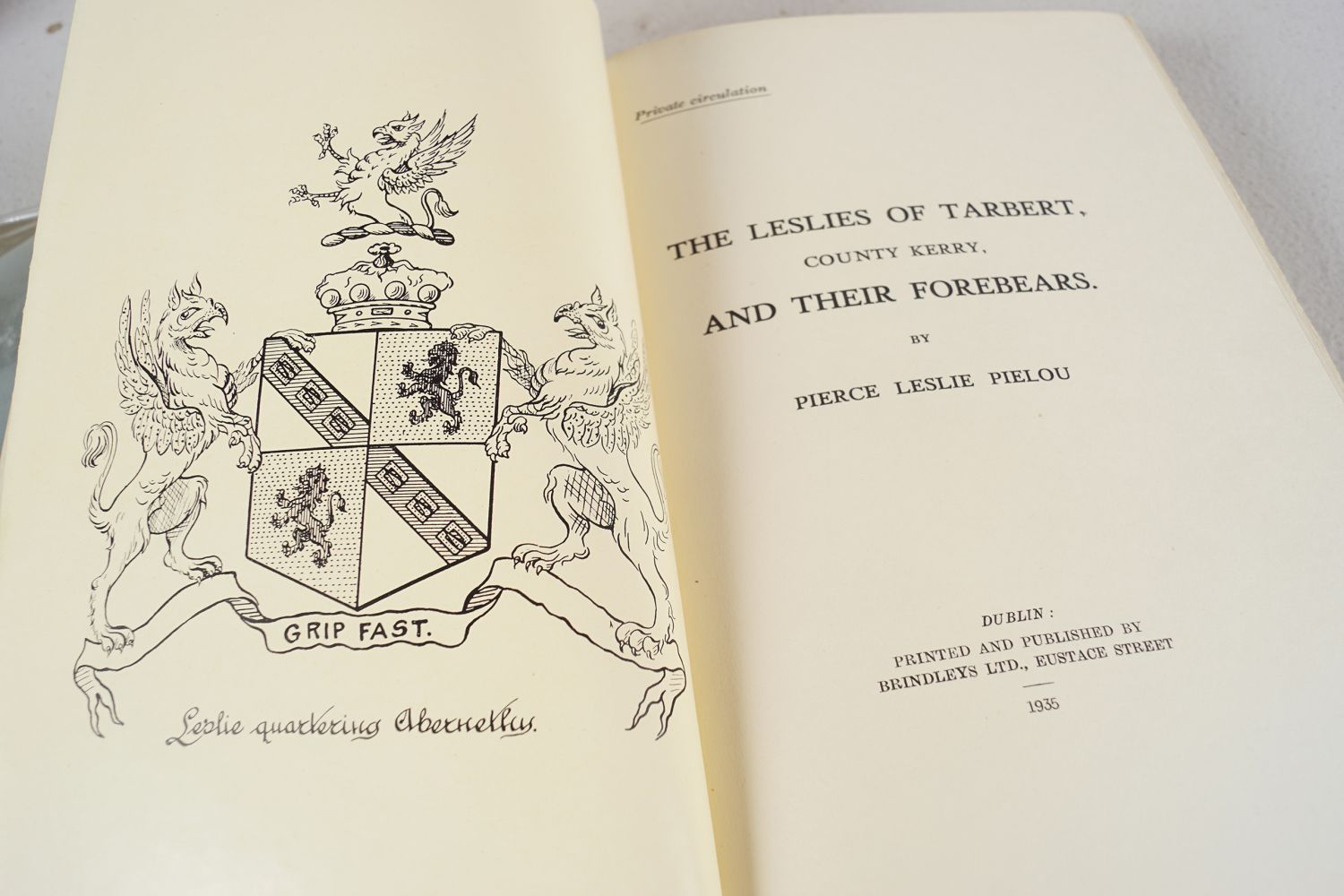 BOOK: THE LESLIES OF TARBERT CO. KERRY - Image 4 of 7