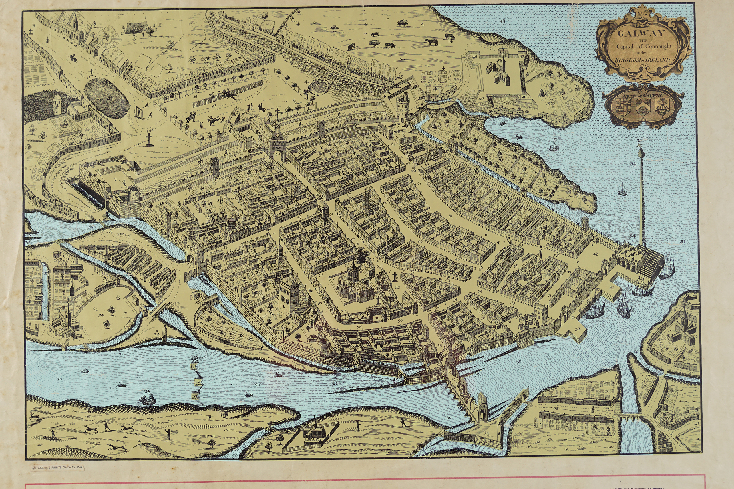 MAP OF GALWAY FROM 1651 - Image 2 of 4