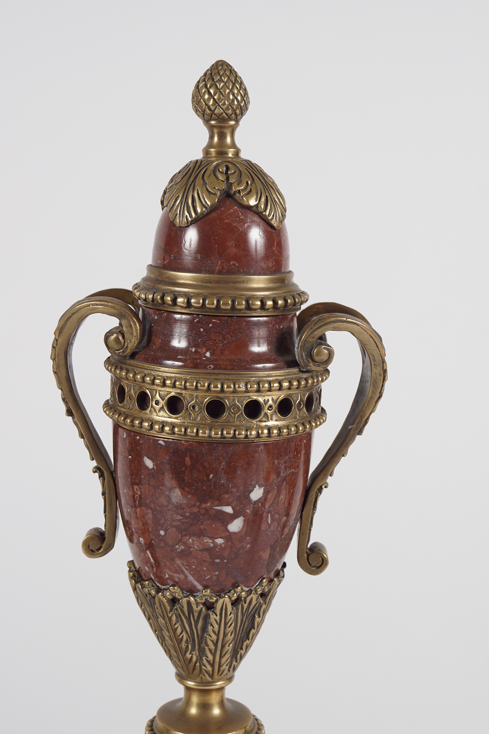 PAIR OF ROUGE ROYALE MARBLE CASSOULETS - Image 2 of 4