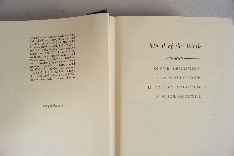 WINSTON CHURCHILL THE SECOND WORLD WAR 6 VOLUMES - Image 4 of 6