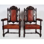 PAIR OF 19TH-CENTURY OAK CHAIRS
