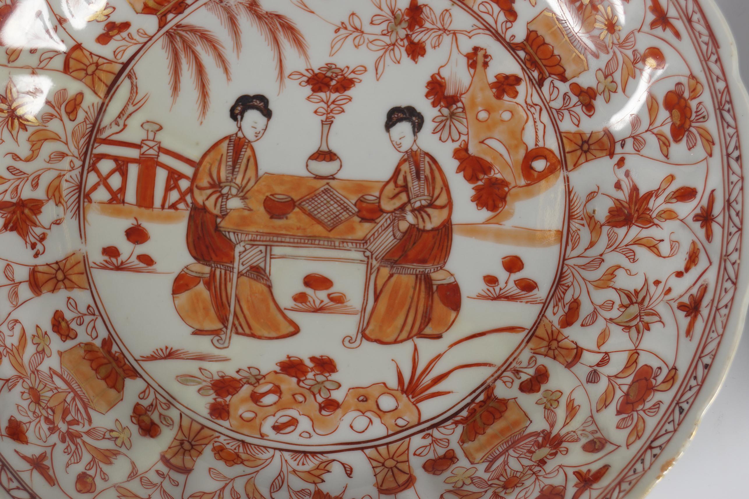 PAIR OF CHINESE KANGXI PLATES - Image 2 of 4