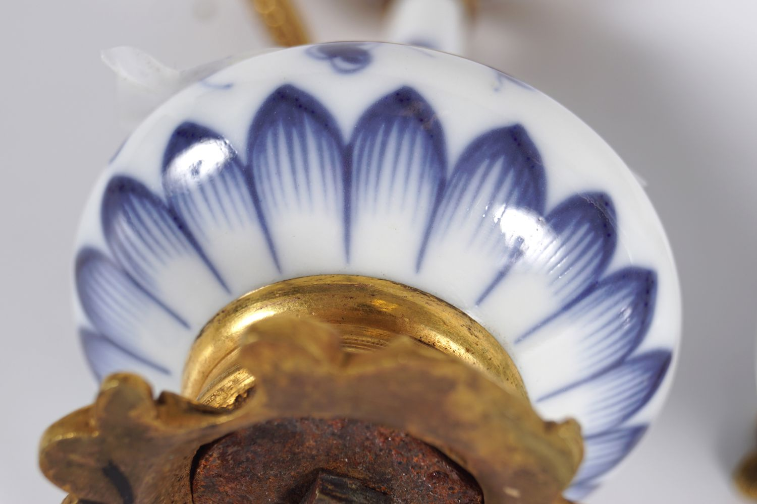 PAIR OF 19TH-CENT BLUE AND WHITE WATER SPRINKLERS - Image 5 of 5