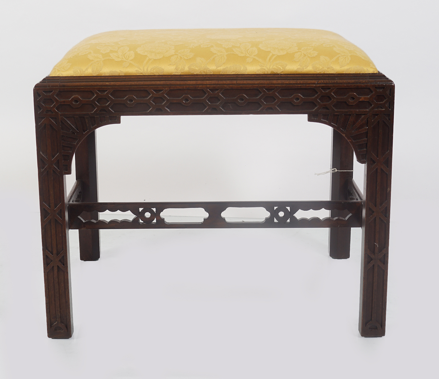GEORGE III PERIOD MAHOGANY CHIPPENDALE STOOL - Image 2 of 3