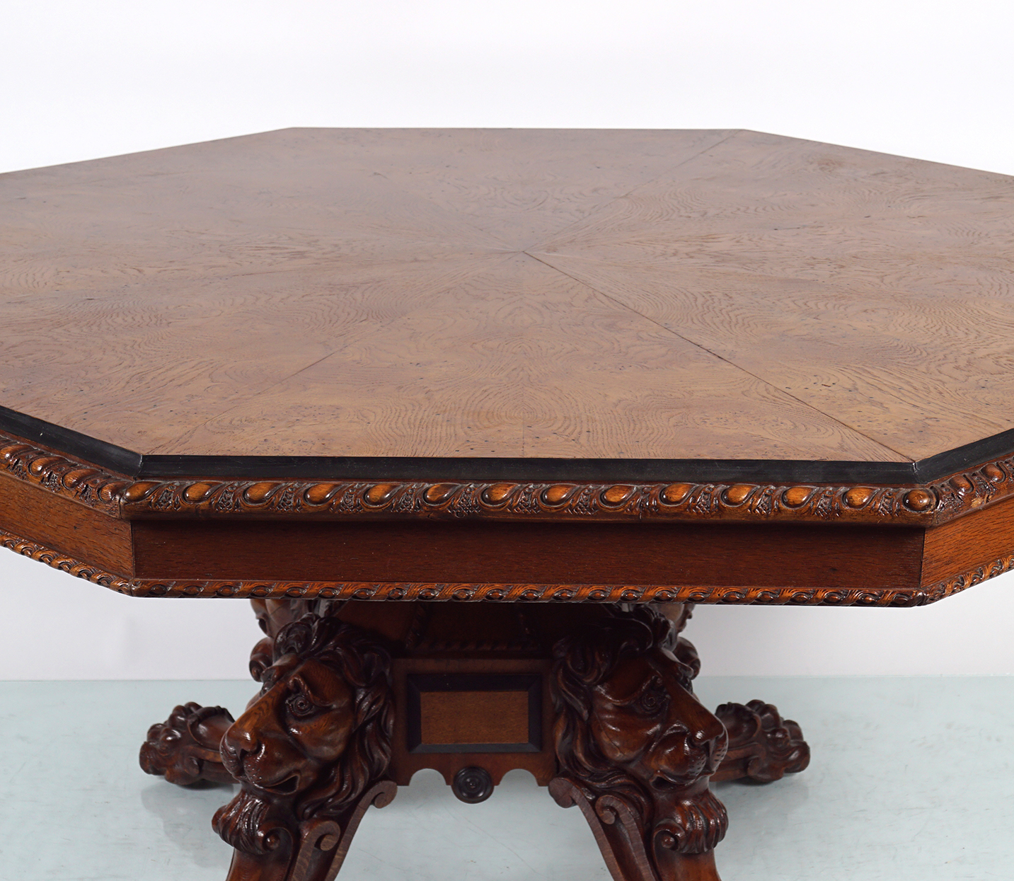 IMPORTANT WILLIAM IV OAK DINING TABLE - Image 2 of 7