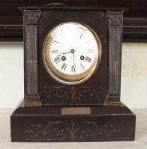 19TH-CENTURY MARBLE MANTLE CLOCK