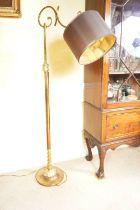 EDWARDIAN BRASS STANDARD LAMP