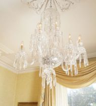 LARGE WATERFORD CRYSTAL CHANDELIER