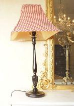 PAIR OF MAHOGANY TABLE LAMPS
