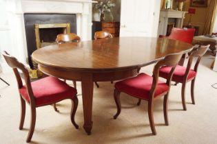 EDWARDIAN MAHOGANY TELESCOPIC DINING TABLE