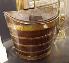 19TH-CENTURY MAHOGANY AND BRASS BOUND BUCKET