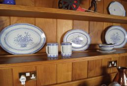 126 PIECE CHINESE BLUE AND WHITE DINNER SERVICE