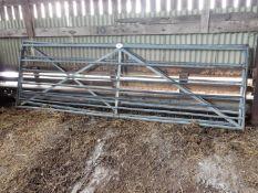 2 x galvanised 12ft gates