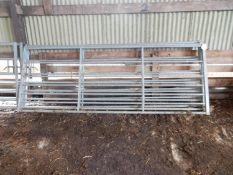 3 x galvanised 10ft gates