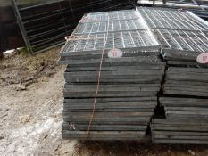 Quantity of galvanised metal mesh frames used as lambing pens