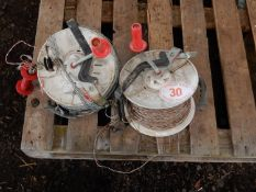 2 x electric wire reels and wire