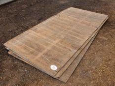 "Quantity of plywood sheets (8'x4'x3/4"")"