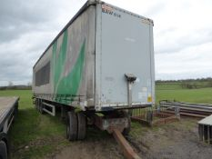 Tri axle curtain sided lorry trailer 44ft c/w dolly & air brakes